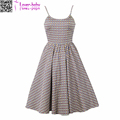 Women Printed Sleeveless Vintage Slip Sexy Party Dress L36195