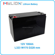 Rechargeable Li ion Battery For UPS or Solar Energy System LiFe 26650 12V 100Ah