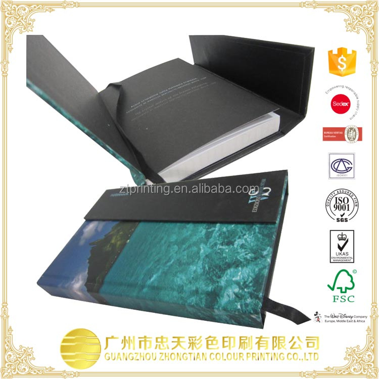 fashion selfcover note book with business card poket