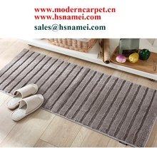 latex backing non slip washable microfiber bathroom rugs bath rugs