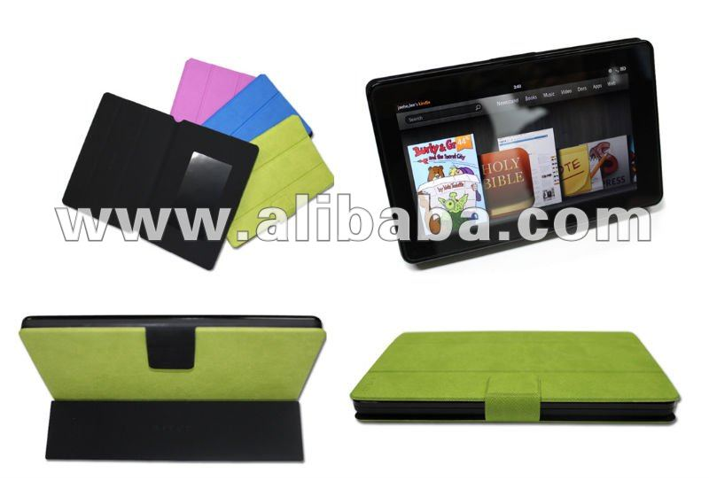 Leather Smart Cover for Amazon Kindle Fire