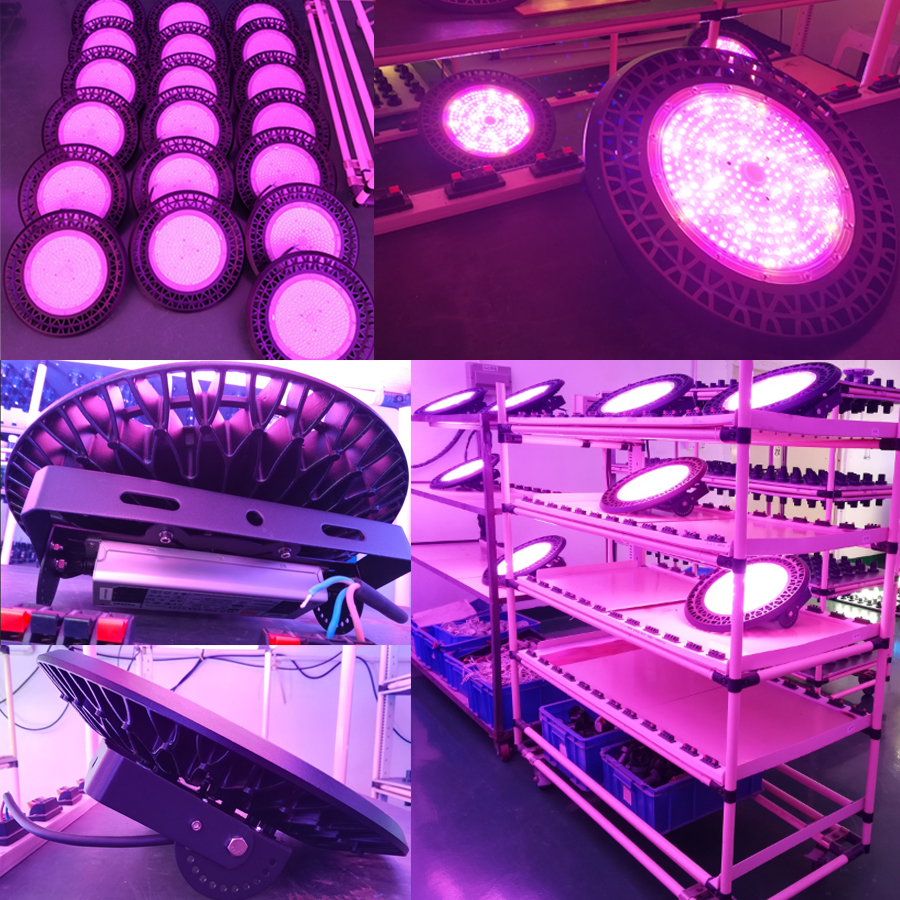 Greenhouse Hydroponic White IR UV SMD 3030 240 Watt 460nm Blue 630nm Red UFO Full Spectrum Led Grow Light For Commercial Plant