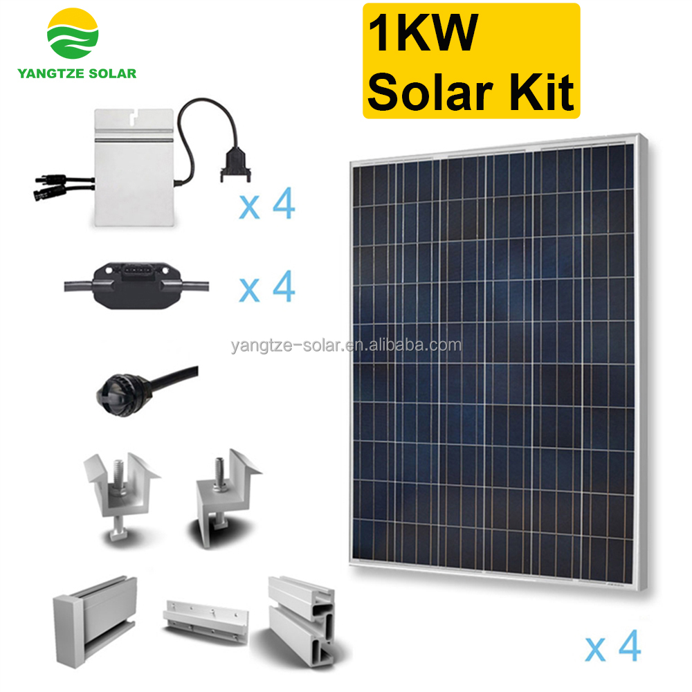 Easy installation 1000w home solar panel kit