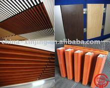 Wood grained printing aluminum dacoration material/ false ceiling panel