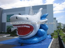 inflatable jaws model for ocean world decoration