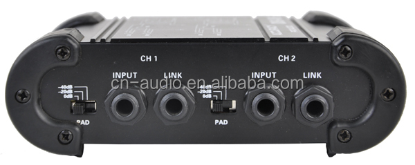 "1/4"" Instrument to 1/4"" XLR Dual Channel DI Box DB-06"