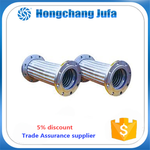 Flange stainless steel flexible hose,corrugated flexible metallic hose,stainless steel wire braided flexible plumbing hose