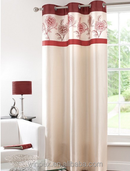 Hot Sell 100% polyester Faux Silk Curtain