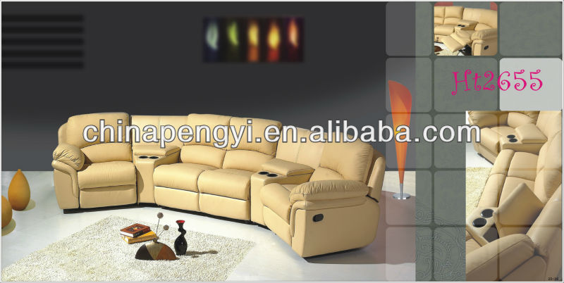 Home cinema sofa seating with recliner