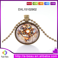 New Arrival Moon Galaxy Copper Ball Chain Necklace DXL15102902