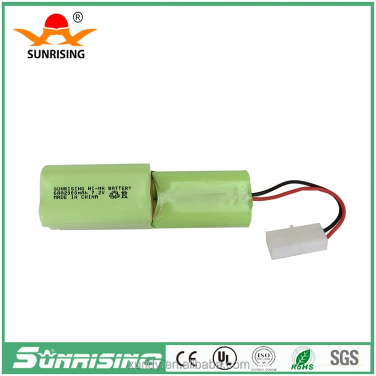 Ni Mh aa 2000mah 7.2v rechargeable battery pack