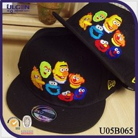 Cheap hip-hop baseball cap with the cartoon flat brim fitted hats and cap
