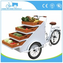 Utility tray bike three wheels vending trike for fruits factory sale