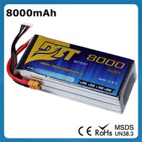 Factory Rechargeable Battery Li-ion 8000mAh 4 Cell 25C 4S Lipo Battery 14.8V RC Helicopter Quadcopter Model Used