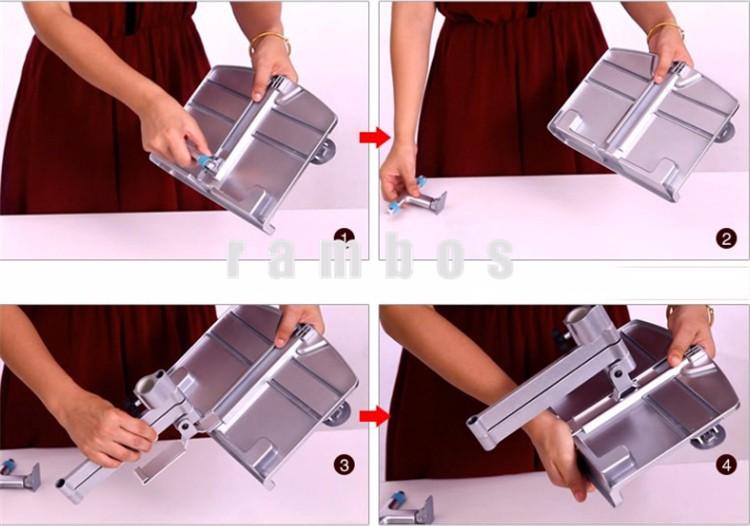 360 Graus de Rotação Flexível Suporte de Leitura Tablet Suporte de Braço para a Mesa da Cama Tablet Livro de Leitura de Leitura