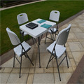 87CM Plastic Square Folding Table Outdoor Garden/Picnic/Camping/Dining/Study Foldable Table