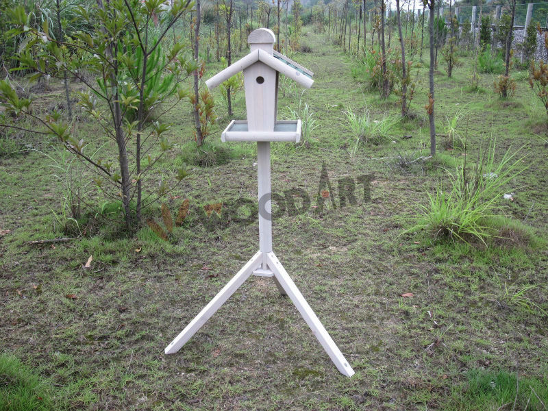 Wild stand wooden out door bird feeder