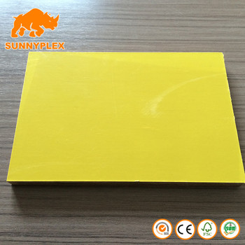 18mm Poplar core Yellow Plastic Coated Film Faced plywood Sheet