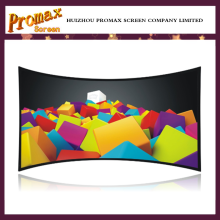 Wide view HD curved projector screen from 96 inch to 400 inch custom size for theater screen