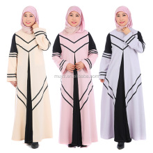L2477A women elegance long sleeve abaya kaftan islamic muslim gown dresses