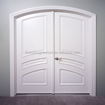 White arched top double front entry door buy front entry for White exterior double doors
