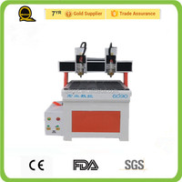 QILI 6090 China Jinan Hongye best performance 2 heads cnc fly reel made in china advertising cnc router