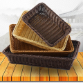 Supermarket equipment fashion rattan storage basket for fruit and food