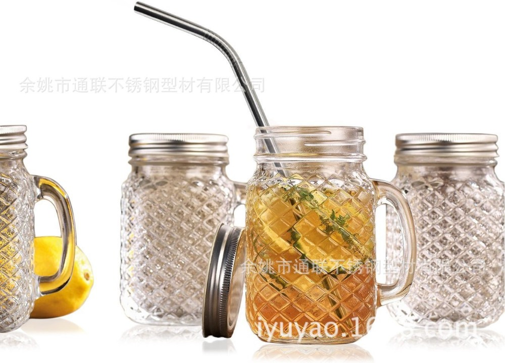 Metal Material reusable Eco-friendly 304 food grade FDA and SGS stainless steel drinking straws