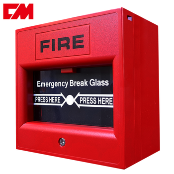 Break glass manual fire alarm call point button