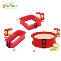 LD-Y019 Large Heavy Non-Stick Silicone Round Silicone Spring Form Pan Baking case for cake making