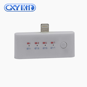 GXYKIT 2018 new arrival Car Kit Wireless fm FM Transmitter 3.5mm Music to Car Radio FM Adapter For iPhone /iPhone 7