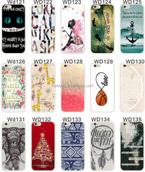 New Different Flower Print TPU Silicone Transparent Shock Proof Phone Case For Iphone 6