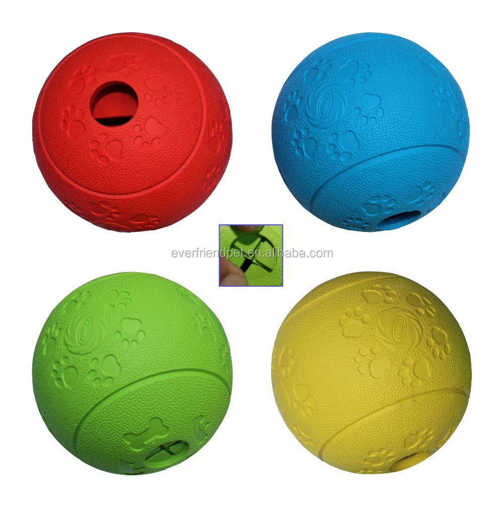 80mm Durable Rubber Dog Ball , Rubber Dog Toys Ball, dog Treat Ball