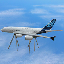 large scale model aircraft 500cm airbus A380 with ISO9001 excellent quality for display