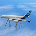 top quality large scale model aircraft 500cm A380 art craft models for display