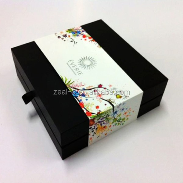 Recycled Material Cardboard Frame Custom Printed on Kraft Paper Gift Box Packaging Drawer Box