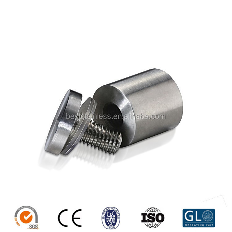 Sanseng Adjustable Stainless Steel Glass Standoff For Glass Fixing