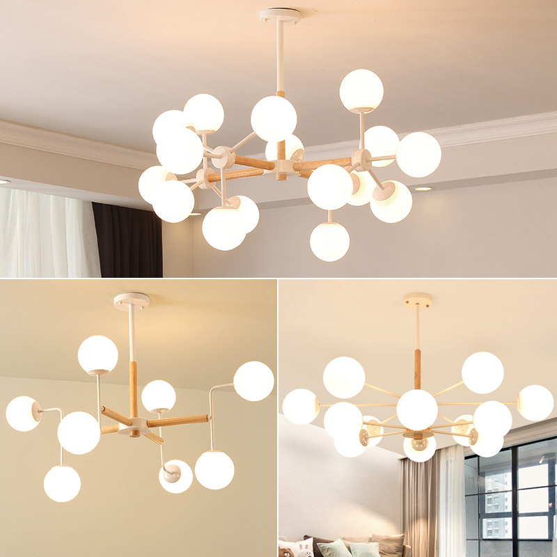 Magic Bean Pendant Lamp/Light/Lighting, DNA Bubble Glass Art Ball Chandelier