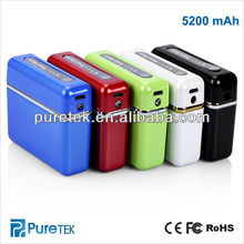 5000mAh Universal Rechargeable Portable Power Bank dmtek Charger,mobile power bank 18650 with light