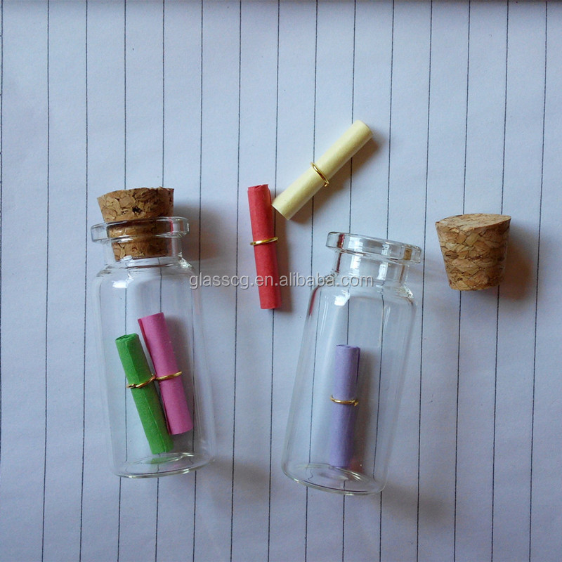 10ml Drift Bottle wishing bottle with cork and paper