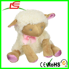 Hot sell little pink satin feet Baby Lamb Plush toy