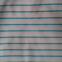 20*10 40*42 cotton stripe printed fabric with flannel brushed on both sides