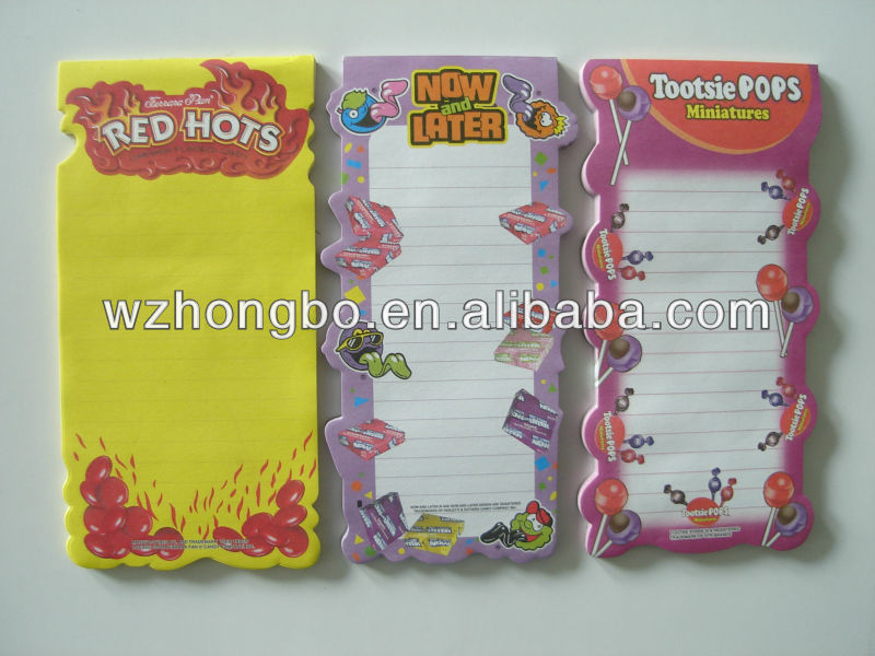 beautiful fridge magnet memo pad/notepad with pen