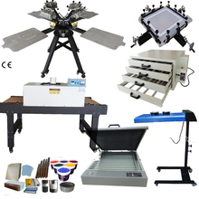 Full sets 4color 4station tshirt screen printing machine rotary screen printing <strong>equipment</strong>