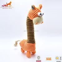 Courage The Cowardly Squeaky Plush Dog Pet Toy With Long Neck