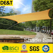 100% new material garden sail shades, uv resistant balcony roof covering, retractable car sunshade