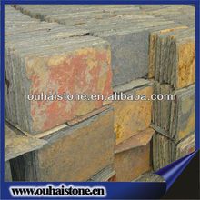 High quality natural stone wall multicolored slate