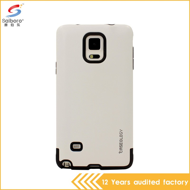 Best quality double color in one phone cover for samsung note 4