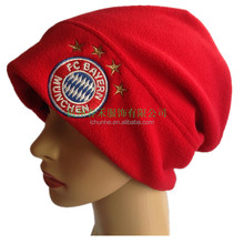 factory hot sell new winter fashion mens and womens embroidery logo polar fleece hat