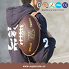 UEFA 2016 Olympics free sample gift EVA+PU material rugby shape backpack football gift